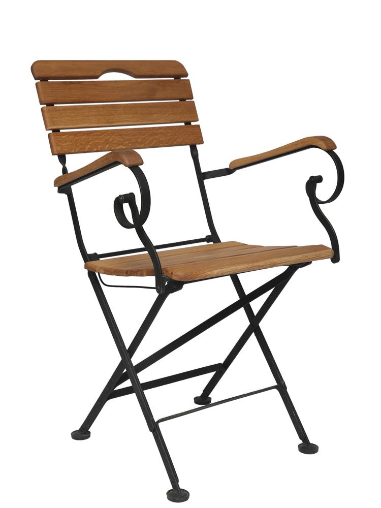 Кресло складное дубовое