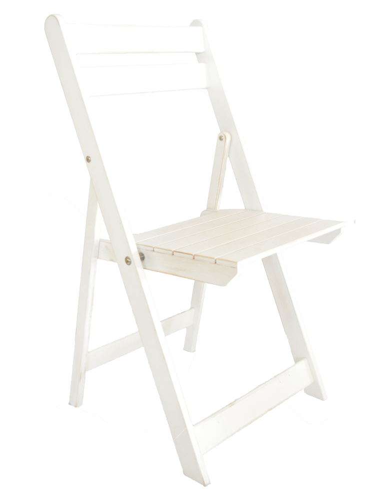 Стул складной из фанеры, белый